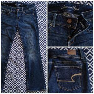 AEO Dark Slim Boot Cut Stretch Jean 2 Short
